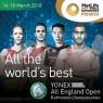View all Yonex All England Open Badminton Championships tour dates